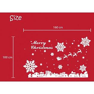 Decal Dán Tường Ninewall Happy Christmas HM019