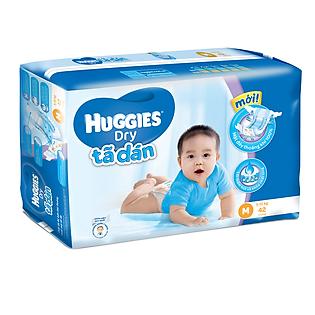 Tã Dán Huggies Dry Jumbo Gói Đại Size M (42 Miếng)