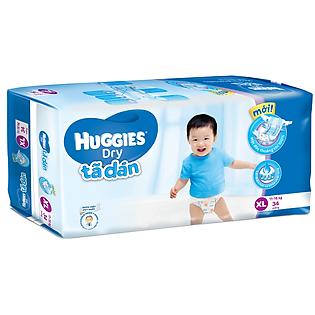 Tã Dán Huggies Dry Jumbo Gói Đại Size XL (34 Miếng)