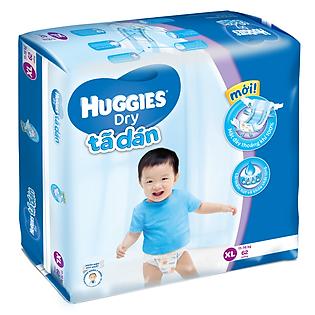 Tã Dán Huggies Dry Jumbo Gói Cực Đại Size XL (62 Miếng)