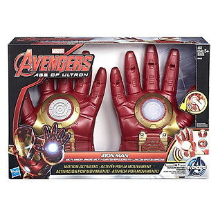 Mô Hình Avengers - Bao Tay Chiến Đấu Iron Man Có Đèn Và Âm Thanh B0429AS10