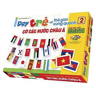 Flash Card Dạy Trẻ Về Thế Giới Xung Quanh 2 - Cờ Các Nước Châu Á