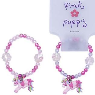 Vòng Tay Ngựa Non Pink Poppy - BCY-032