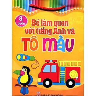 Bộ Túi Bé Làm Quen Với Tiếng Anh Và Tô Màu (Trọn Bộ 8 Cuốn)