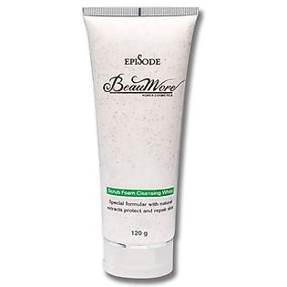 Sữa Rửa Mặt Hạt Mơ - Beaumore Scrub Foam Cleansing White TP037 (120G)