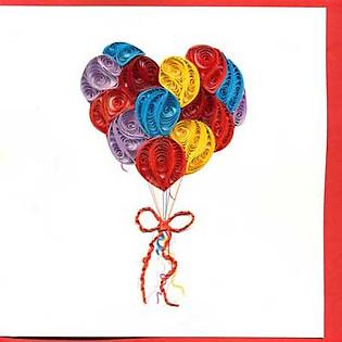 Thiệp Giấy Xoắn Việt Net - Love Valentine - Big Heart Mẫu 1