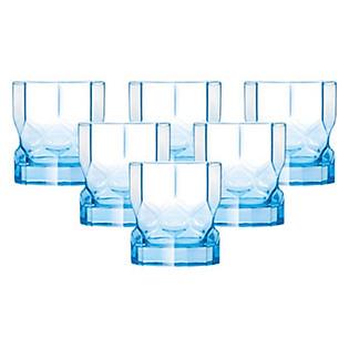 Bộ 6 Ly Thủy Tinh Thấp Luminarc Octime Diamond Ice Blue J7980 - (300Ml)