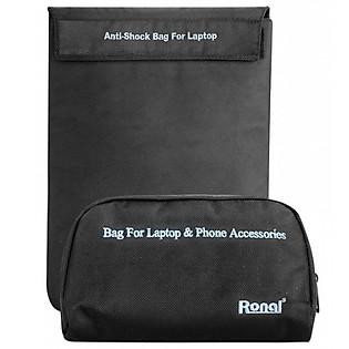 Combo Túi Chống Sốc Laptop Và Túi Phụ Kiện Ronal Combo03
