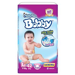 Tã Bobby Fresh Siêu Mỏng Jumbo Size L (42 Miếng)