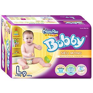 Tã Dán Bobby Fresh Siêu Thấm Size L (9 Miếng)