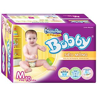 Tã Dán Bobby Fresh Siêu Mỏng Size M (10 Miếng)