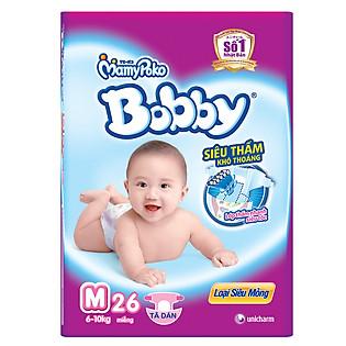 Tã Bobby Fresh Siêu Mỏng Gói Lớn Size M (26 Miếng)