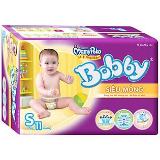 Tã Dán Bobby Fresh Siêu Mỏng Size S (11 Miếng)