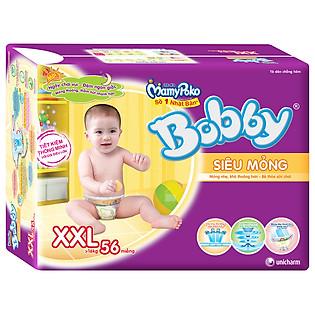 Tã Dán Bobby Fresh Super Jumbo Siêu Mỏng Size XXL (56 Miếng)