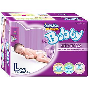 Tã Bobby Fresh Siêu Thấm Gói Lớn Size L (25 Miếng)