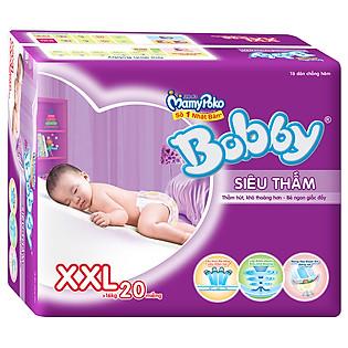 Tã Dán Bobby Fresh Siêu Thấm Size XXL (20 Miếng)
