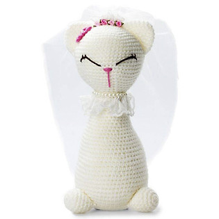 Mèo Đứng Trắng Tommy Cat WT-013WHI-L Bobicraft (24 Cm X 10 Cm X 10 Cm)