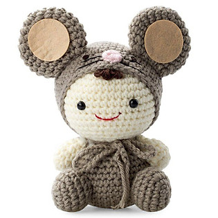 Chuột Xám Grey Mouse WT-019CLA-M Bobicraft (16 Cm X 10 Cm X 9 Cm)