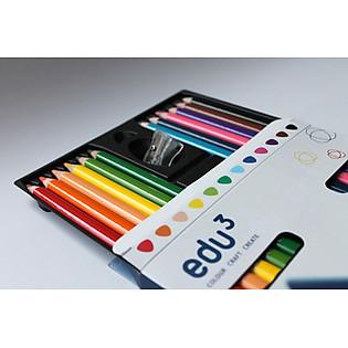 Bút Chì Màu Edu3 Loại Nhỏ 12 Màu