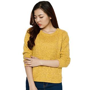 Áo Len Vạt Ngắn Hai Túi Labelle C20 - Vàng (Free Size)