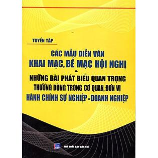 """""""Các Mẫu Diễn Văn Khai Mạc, Bế Mạc Hội Nghị"""""""