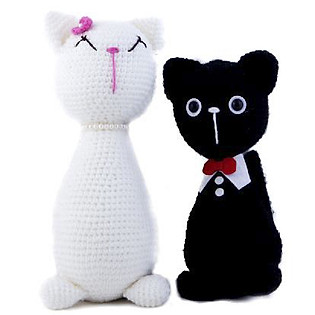 Cặp Mèo Đứng Couple Cats WT-013BLA-XL Bobicraft 2X(24 Cm X 10 Cm X 10 Cm)