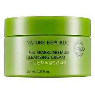 Kem Tẩy Trang Nature Republic Jeju Sparkling Mud Cleansing Cream (215Ml)