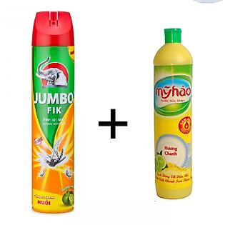 Bình Xịt Muỗi Jumbo Vape FIK Hương Cam Chanh 600Ml - 100712620