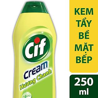 Kem Tẩy Đa Năng Cif  Hương Chanh Dạng Chai 250Ml