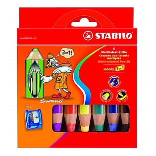 Bộ Bút Chì Màu Stabilo Woody 3-In-1 CL880-6C