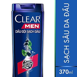 Dầu Gội Clear Men Trị Gàu Deep Cleanse Carbon Hoạt Tính Và Bạc Hà 370G