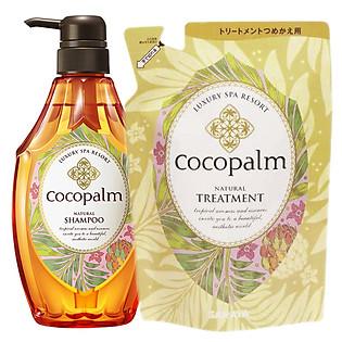 Combo Dầu Gội Cocopalm Chai 600Ml Và Dầu Xả Cocopalm Túi 500Ml