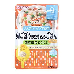 Cơm Thập Cẩm Wakodo Nhật Bản Với Thịt Gà Và Ngưu Bàng - IE11 (Cho Bé Từ 9 Tháng Trở Lên)
