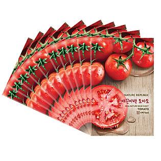 Combo 10 Mặt Nạ Đắp Từ Cà Chua Nature Republic Real Nature Tomato Mask Sheet