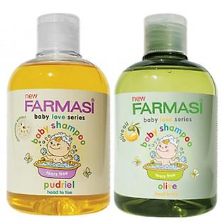 Bộ Gel Tắm Gội Trẻ Em Không Kích Ứng Da Farmasi Baby Shampoo (300Ml/Chai)