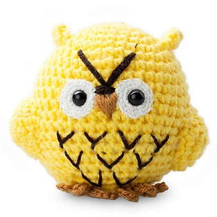Cú Mèo Hedwee Owl WT-010YEL-M Bobicraft (10 Cm X 10 Cm X 7 Cm)