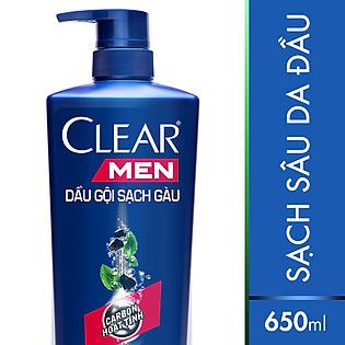 Dầu Gội Clear Men Sạch Sâu Da Đầu (650G)