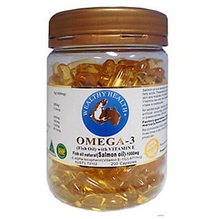 Thực Phẩm Chức Năng Viên Uống Dầu Cá Hồi Wild Omega 3 WEALTHY HEALTH -GIC (200 Viên)