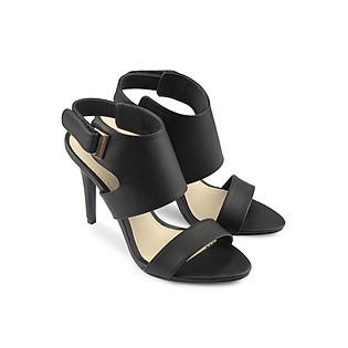Giày Sandal Cao Gót 9Cm Quai Ngang Juno SD09012 - Đen
