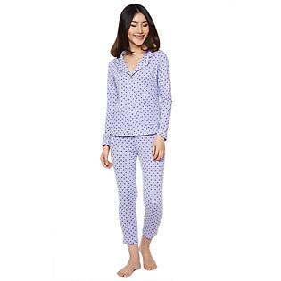 Đồ Bộ Pyjama Labelle DP2 - Tím Chấm Bi Xanh