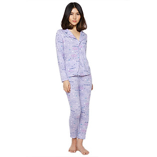 Đồ Bộ Pyjama Labelle DP2 - Tím Họa Tiết