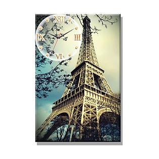 Tranh Đồng Hồ Dyvina 1T4060-6 - Tháp Eiffel