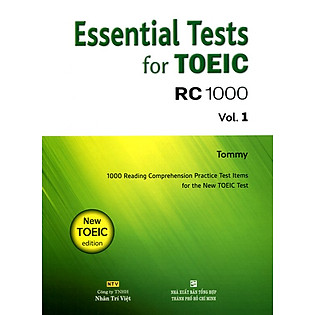 Essential Test For TOEIC RC 1000 Vol 1 (Không CD)