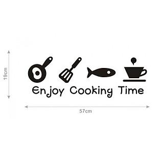 Decal Dán Tường Ninewall Enjoy Cooking Time F29