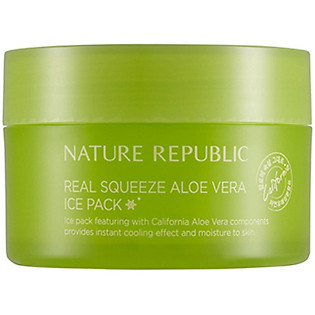 Mặt Nạ Lô Hội Nature Republic Real Squeeze Aloe Vera Ice Pack (100Ml)