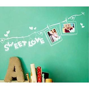 Decal Dán Tường Khung Ảnh Ninewall Sweet-Love FF002