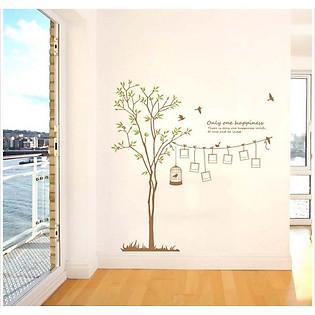 Decal Dán Tường Khung Ảnh Ninewall Spring-Tree FF003