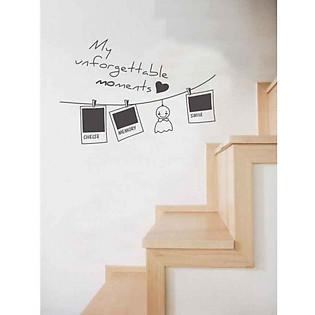 Decal Dán Tường Khung Ảnh Ninewall Photo-Line-Art FF005