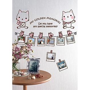 Decal Dán Tường Khung Ảnh Ninewall My-Golden-Memories FF0012