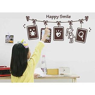 Decal Dán Tường Khung Ảnh Ninewall Happy-Smile FF0027